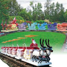 Santa coach train